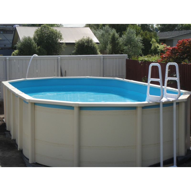 A frame safety ladder pool parts accessories spa pools swimming pools equipment service for Above ground swimming pools nz